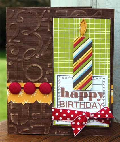Happy Birthday Card by Kimber McGray : Core'dinations ColorCore Cardstock® | Scrapbook Cardstock Paper, Projects, Tips, Techniques and More!...