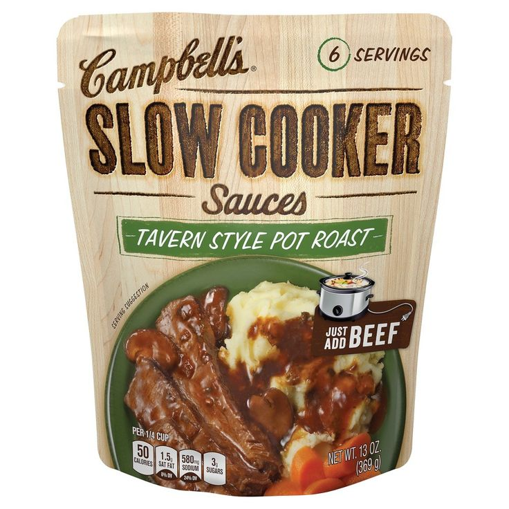 Campbell's Slow Cooker Sauces Tavern Style Pot Roast 13 oz