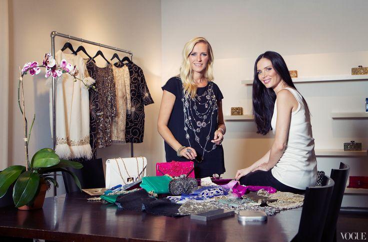 design// http://media.vogue.com/files/In the Marchesa studio in Chelsea, cofounders Georgina Chapman and Keren Craig's dresses take action.