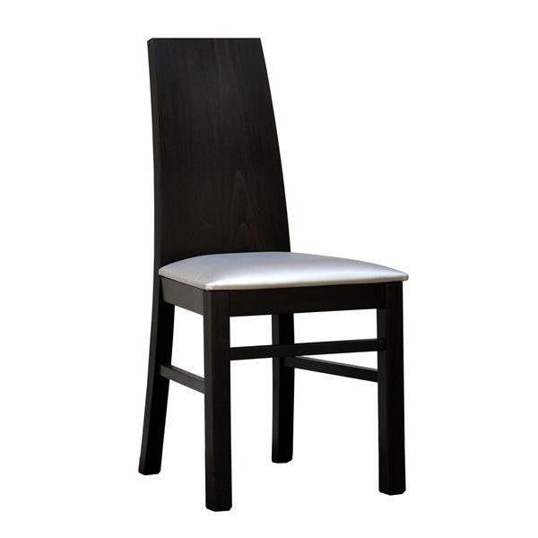 Krzesło z drewna bukowego , tapicerowane tkaniną. SALON: BESKID FABRYKA MEBLI