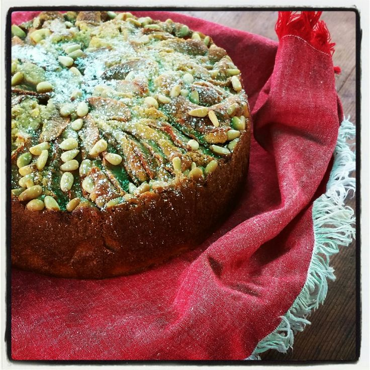 Warm Pear and Coriander Cake