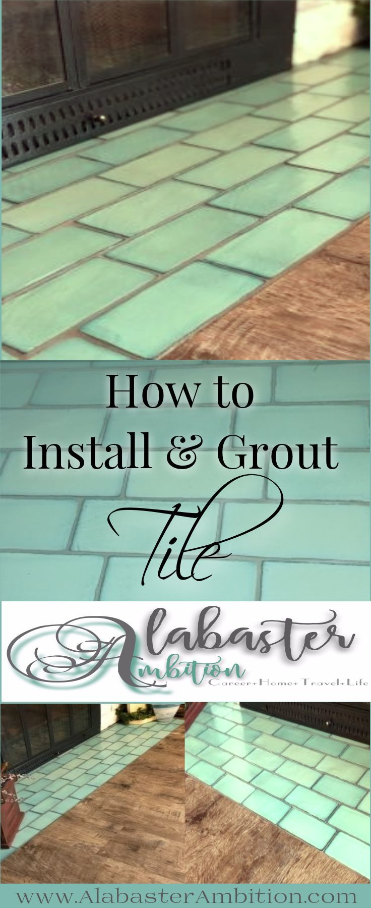 DIY Tile Installation- How to Install and Grout Tile | Best Bloggers ...