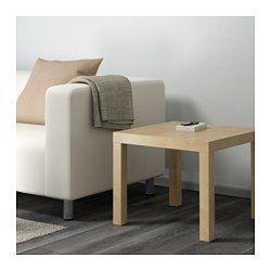 LACK Table d'appoint, effet bouleau - 55x55 cm - IKEA