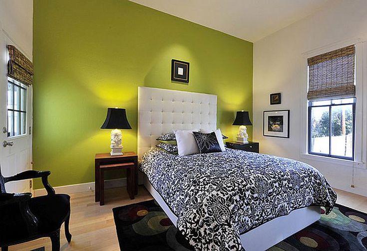 Camera da letto nelle tonalità del verde n.25
