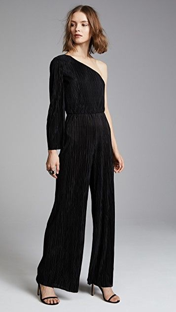 alice + olivia Keiko Pleated One Shoulder Jumpsuit | SHOPBOP SAVE UP TO 25% Use Code: GOBIG18