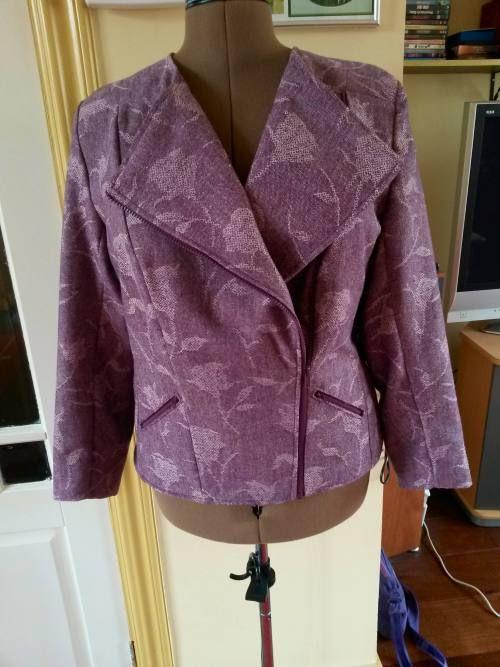 Paarse tweed jasje Lutterloh.