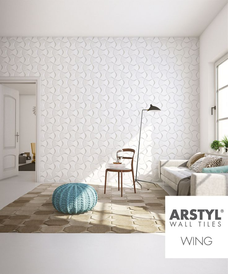 Arstyl wall tiles wing livingroom wall tiles for Living room 3d tiles