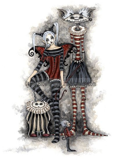 Shadow Circus Send in the Clowns 8.5x11 Fairy Print by Amy Brown. $14.00, via Etsy.