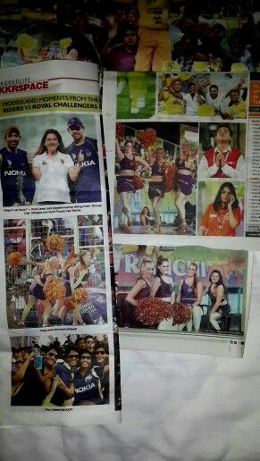 In the local newspapers :D