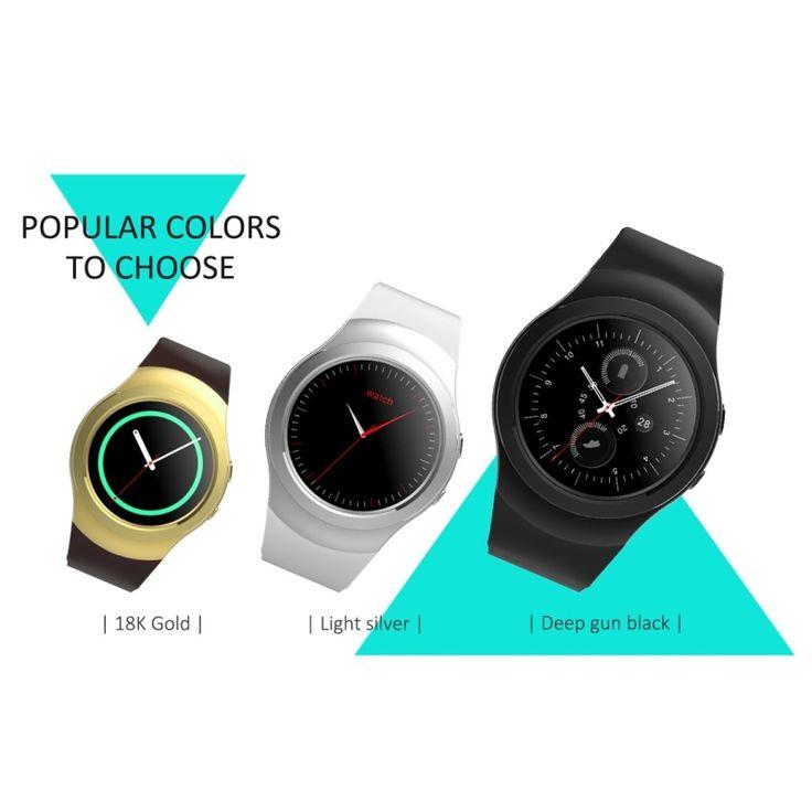 Smart Watch Waterproof Heart Rate Detection 1.3'' HD IPS Full Round Screen Display Fitness Tracker Smart Wristwatch Push Message #Affiliate