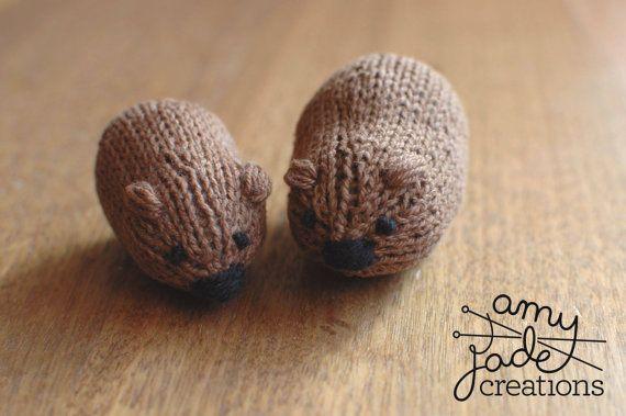 Little Wombat Knitting Pattern // Australian Wombat $5 etsy