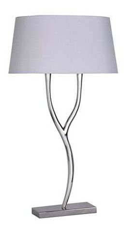 Nickel branch table lamp