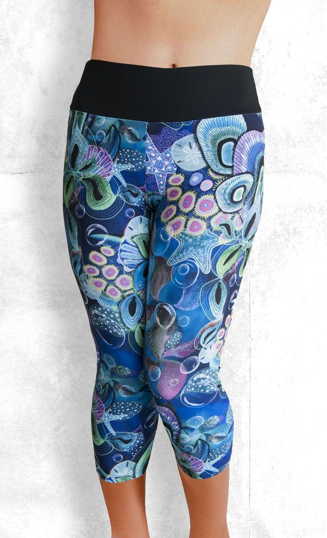 Capri Leggings - Ocean Dreams - Funtastic Activewear