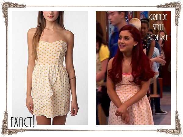 "Cat Valentine in the new Victorious episode ""Three girls and a moose"". Dress: Urban Outfitters EXACT! (sold out)"