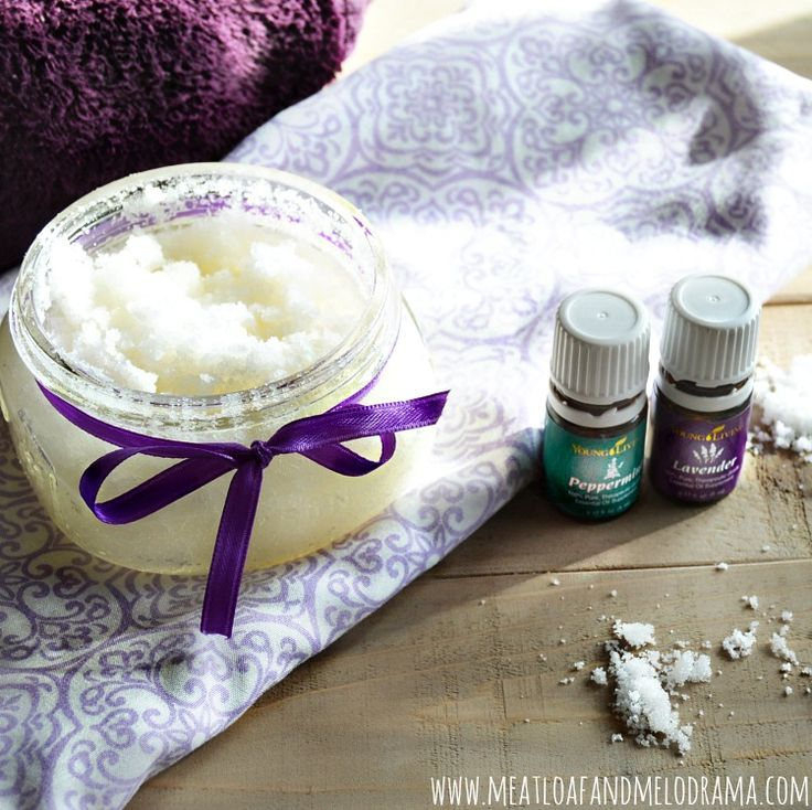 diy sugar scrub with young living lavender and peppermint essential oils