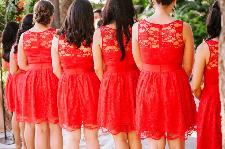 ModCloth! poppy red .. red orange .. fire engine red .. bridesmaids dresses!