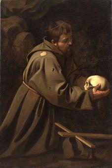 Le Caravage, Saint François en méditation, vers 1602 © Private collection courtesy of Whitfield Fine Art, London