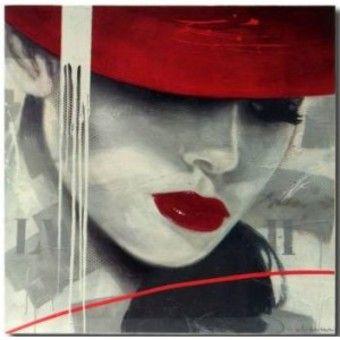 cuadro-chica-sombrero.jpg (340×340)