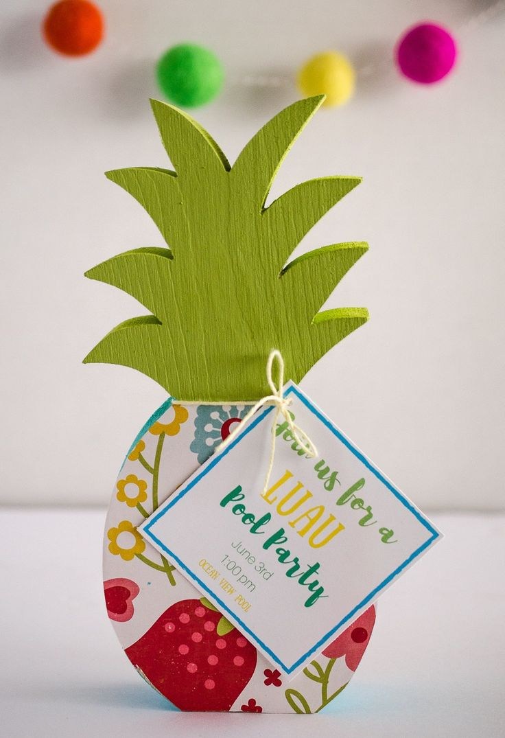 DIY Luau Pool Party Invites by Fawn