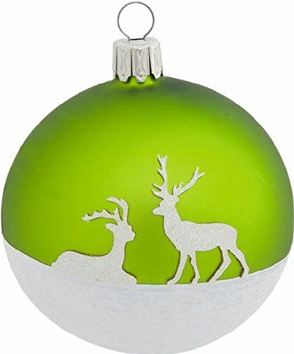 2 Winter Deer Green Mat Glass Ball Christmas Ornaments 8 cm, Mouth blown and hand painted in Germany, Christmas Tree Ornaments, Christmas tree balls, glass balls, Xmas Jetzt bestellen unter: http://www.woonio.de/produkt/2-winter-deer-green-mat-glass-ball-christmas-ornaments-8-cm-mouth-blown-and-hand-painted-in-germany-christmas-tree-ornaments-christmas-tree-balls-glass-balls-xmas/