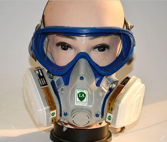 Pintura de aerosol respirador máscara de gas respirador de pesticidas de silicona de la cara llena máscara de filtro de carbón Envío Gratis