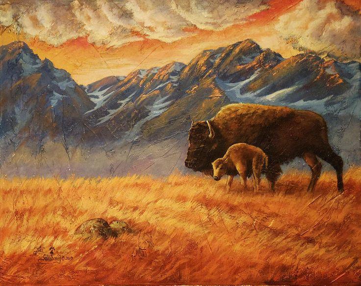 Buffalo From The Beartooths by Lori Salisbury - Buffalo From The ...