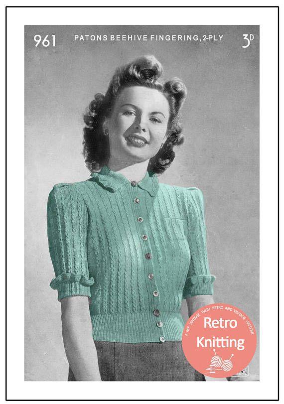 522 Best Vintage Knitting Patterns Images On Pinterest Vintage