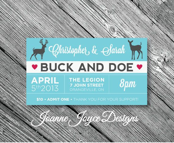 13 best jack and jills images on pinterest stag and doe for Jack and jill ticket templates