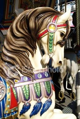 Free Pictures Of Carousel Horses   Carousel Horse - Merry Go Round - Stock Photo - iStock