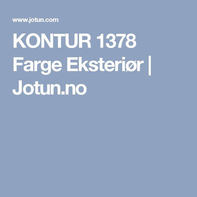 KONTUR 1378 Farge Eksteriør | Jotun.no