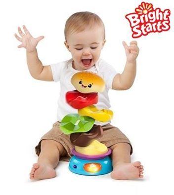 Z czego składa się burger? Mogą się o tym przekonać wszystkie Maluchy, które ułożą kolorową piramidkę i nacisną przycisk :) Zabawka Zakręcony Burger wesoło wiruje, po czym rozpada się na poszczególne części, sprawiając dzieciom mnóstwo frajdy! :) Zobaczcie szczegóły: http://brightstarts-dumel.pl/zabawki/zakrecony_burger1.html #burger #zabawki #zabawa #dzieci #dziecko #dumel #brightstarts