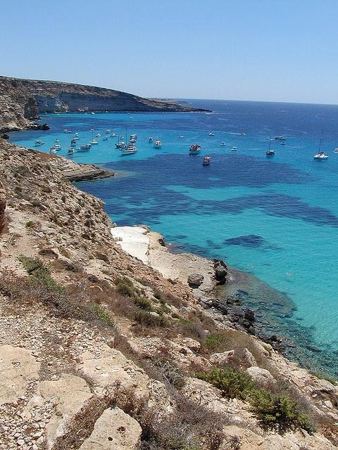 Spiaggia dei conigli (rabbits' beach), Lampedusa, Italy