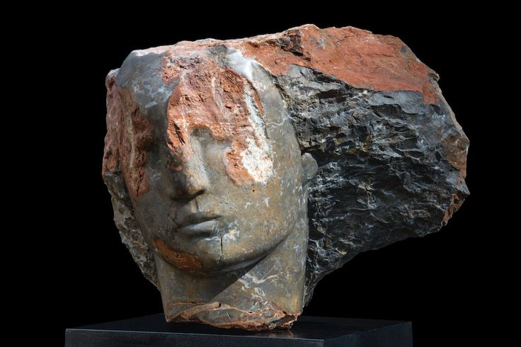 Bowman Sculpture - Sculptures by Emily Young