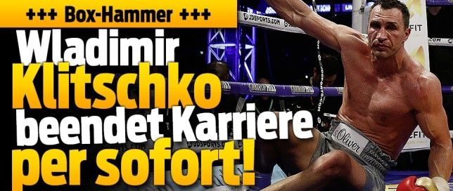 Wladimir Klitschko beendet Box-Karriere 69 Kämpfe / 64 Siege