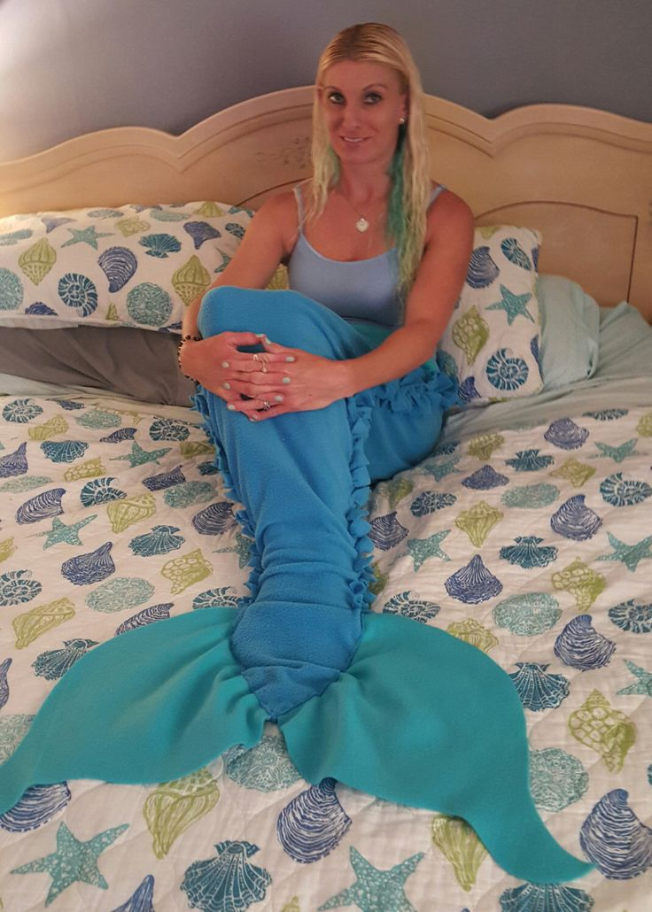 tied fleece mermaid tail blanket by MidwestSheller on Etsy https://www.etsy.com/listing/215776930/tied-fleece-mermaid-tail-blanket