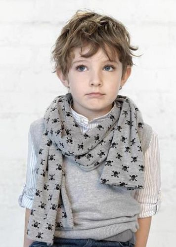 My kids hair all looks just like this every day right now!  I knew they were in style!  Now I just need this cute scarf!