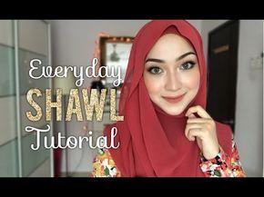 Hi-Light | Hijab Tutorial Plain Chiffon Shawl by Femme Outfit - YouTube