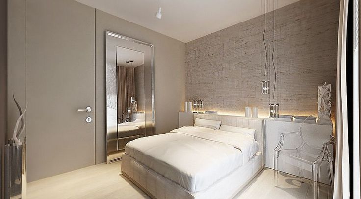 This is an example of a neutral color scheme. The bedroom is made up of light tans, dull whites, and beige. This room gives me a peaceful and calming feeling. It looks clean but lacks interest.