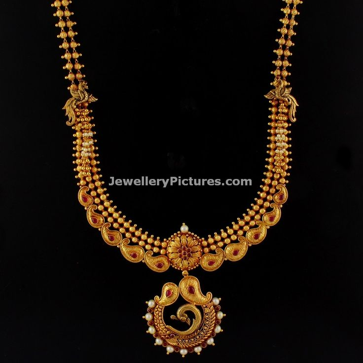 Beautiful Antique Gold haram Designs top models showing here. traditional Antique Gold Haram beautifully crafted and accented with ruby and emeralds Stones.
