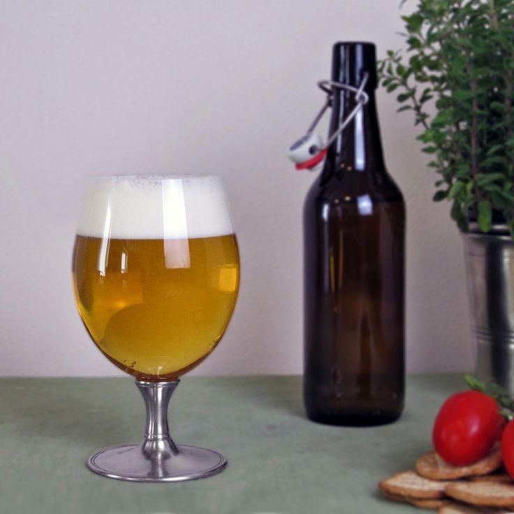 Crystal & Pewter Beer Glass - Height: 17,5 cm (6,9″) - Food Safe Product - #pewter #crystal #beer #glass #peltro #cristallo #bicchiere #birra #zinn #kristallglas #bierglas #étain #etain #cristal #verre #bière #peltre #tinn #олово #оловянный #glassware #drinkware #barware #accessories #decor #design #bottega #peltro #GT #italian #handmade #made #italy #artisans #craftsmanship #craftsman #primitive