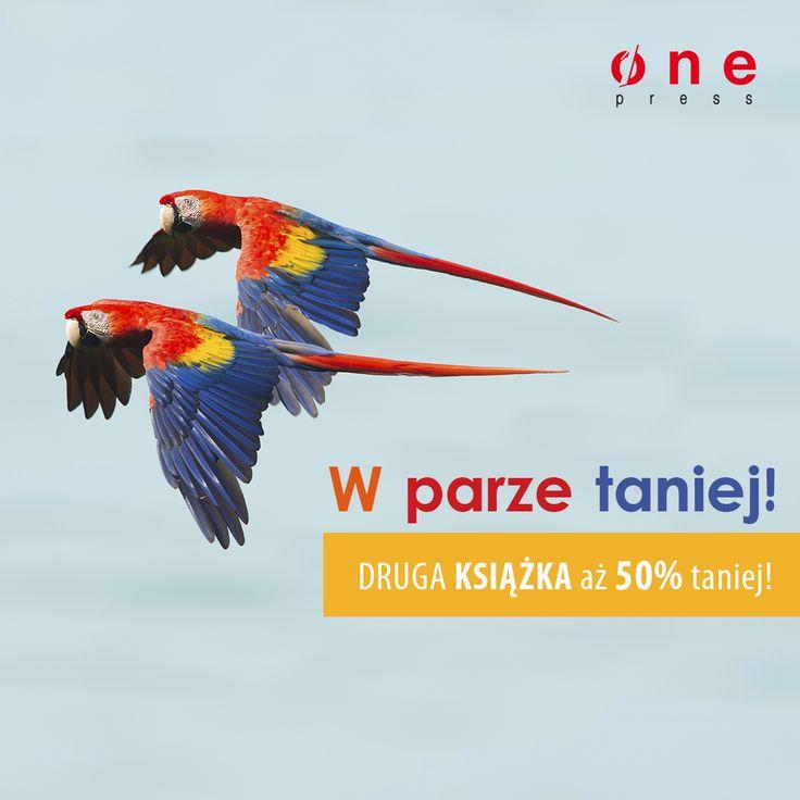 Do 19 czerwca włącznie na Onepress.pl przy zakupie 2 książek w dowolnym formacie, jedną z nich otrzymasz o 50% taniej. W parze się opłaca! :)  #promocja #onepress #50%nadrugaksiazke