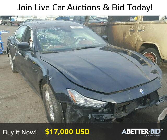Salvage  2014 MASERATI ALL MODELS for Sale - ZAM57XSA2E1082004 - https://abetter.bid/en/20298887-2014-maserati-ghibli
