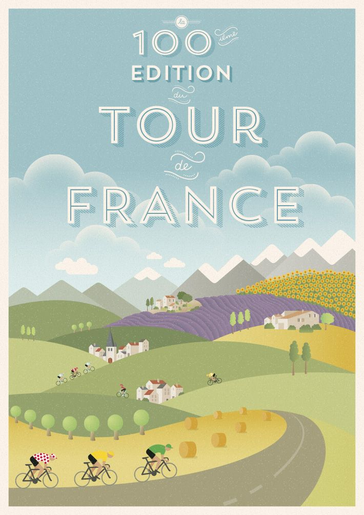 The 100th edition of the Tour Poster