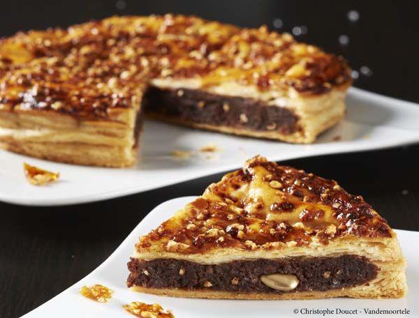 Recette Galette des rois frangipane au chocolat et nougatine pour l'Epiphanie