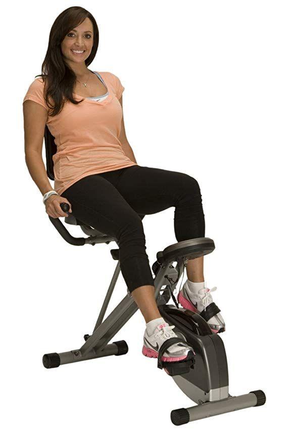 Amazon Com Exerpeutic 400xl Folding Recumbent Bike Exercise