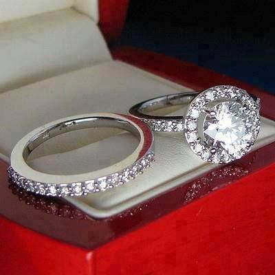 Simple Diamonds all around wedding band