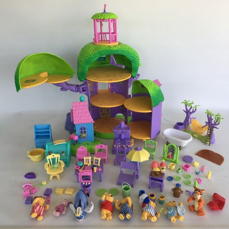 Mattel Pooh's Friendly Places Bundle of Treehouse and figures etc. Winnie Tigger | Toys & Games, TV & Film Character Toys, Film & Disney Characters | eBay!