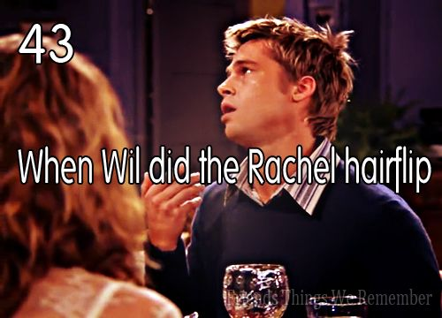 The Rachel Hair Flip by Brad Pitt