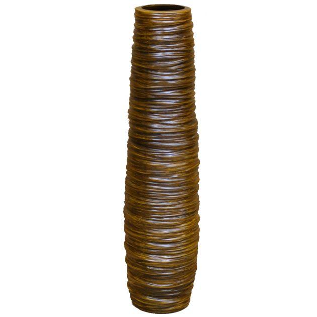 Βάζο Δαπέδου Twist Brown 75εκ  Τιμή: €35,00 http://www.lovedeco.gr/p.Vazo-Dapedou-Twist-Brown-75ek.818532.html