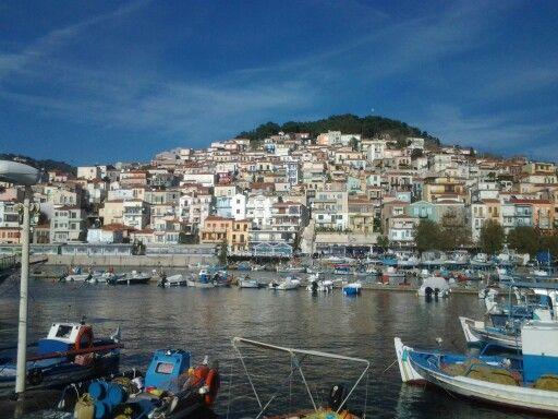 Plomari's liitle harbour